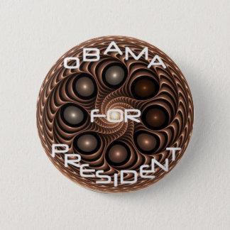 Den Obama fractalen knäppas Standard Knapp Rund 5.7 Cm