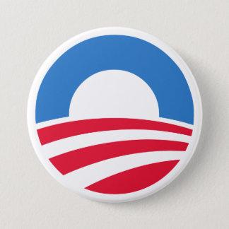 Den Obama logotypen 2012 knäppas Mellanstor Knapp Rund 7.6 Cm