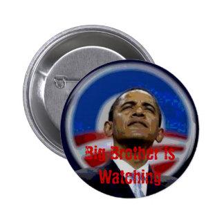 Den Obama storebrodern knäppas Standard Knapp Rund 5.7 Cm