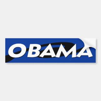 Den Obama svarten på blått virvlar runt design Bildekal