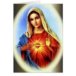 Den obefläckade hjärtan av välsignade jungfruliga hälsningskort
