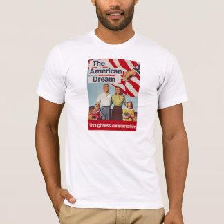 Den obetänksamma consumerismen för amerikanska tee shirt