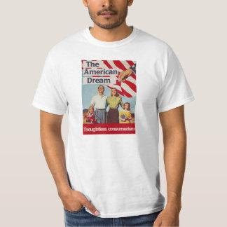 Den obetänksamma consumerismen för amerikanska tee shirts