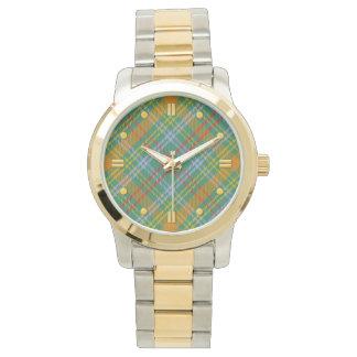 Den O'Brien tartanen Två-tonar klockan Armbandsur