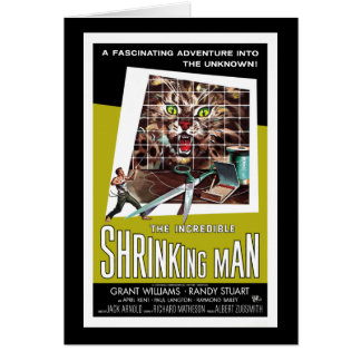 Den oerhörda Shrinking manen Hälsningskort