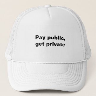 Den offentliga lönen, får privat truckerkeps