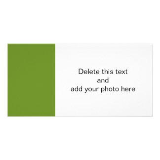 Den olivgröna gråbruna kicken avslutar märkes- fotokort