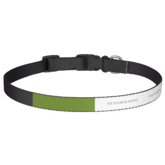 Den olivgröna gråbruna kicken avslutar märkes- halsband husdjur