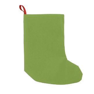 Den olivgröna gråbruna kicken avslutar märkes- liten julstrumpa