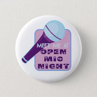 Den öppna Mic-natten knäppas Standard Knapp Rund 5.7 Cm