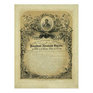 Den öppnings- adressen av presidenten Abraham Vykort
