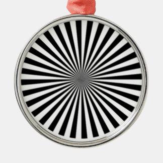 Den optiska illusionen låter en se snilleblixtar julgransprydnad metall