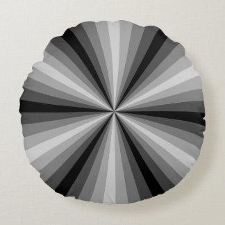 Den optiska illusionsvartrundan kudder rund kudde