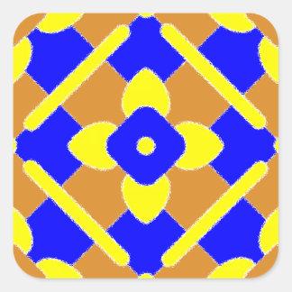 Den orange blåttgultspanjoren belägger med tegel fyrkantigt klistermärke