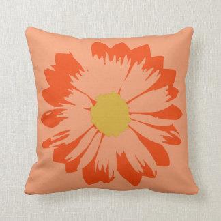 Den orange blomman på orangen kudder kudde