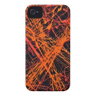 DEN ORANGE ~en för WEBBEN (en abstrakt iPhone 4 Case-Mate Skydd