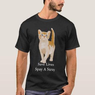 Den orange katten, sparaliv Spay en vilsekommet T Shirts