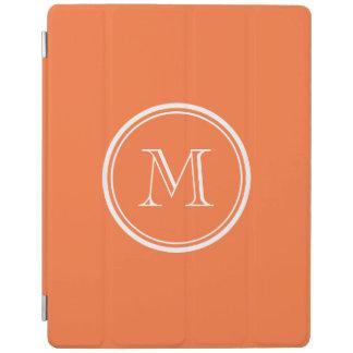 Den orange kicken avslutar kulört Monogrammed iPad Skydd