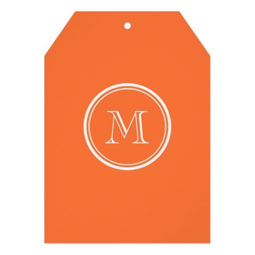 Den orange kicken avslutar kulört Monogrammed Anpassningsbara Inbjudningskort