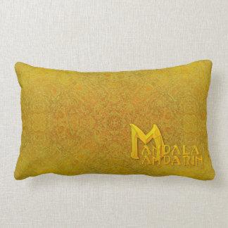 "Den orange ""Mandala-Mandarinen"" logotypen kudder Lumbarkudde"