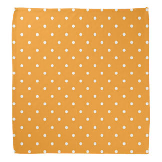 Den orange polkaen pricker design bandanna