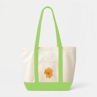 Den orange Retro/PopArt blomman hänger lös Tygkasse