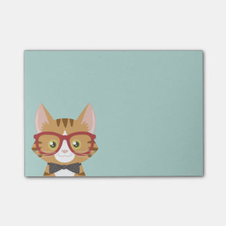 Den orange TabbyHipsterkatten som ungar Post-it Lappar