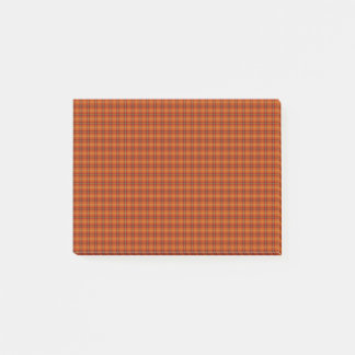 Den orange tartanen Postar-it® noterar Post-it Block