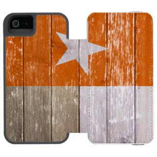 Den orange Texas flagga målade gammalt trä