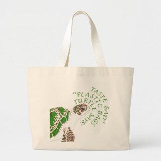 Den organiska gröna sköldpaddan hänger lös jumbo tygkasse