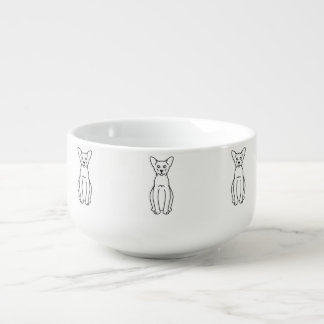 Den orientaliska kanelen & lismar katttecknaden stor kopp för soppa