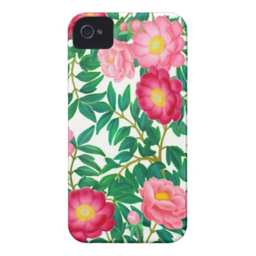 Den orientaliska trädpionen blommar blackberry bol iPhone 4 skal