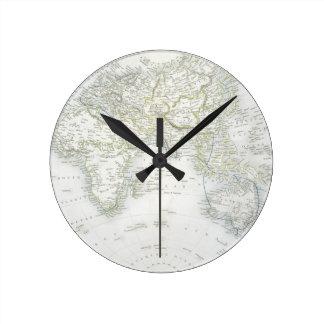 Den östliga halvklotet, från en serie av världen k rund klocka