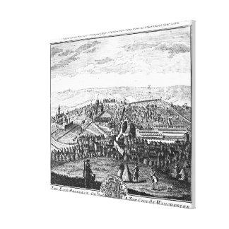 Den östliga utsikten av staden av Winchester Canvastryck
