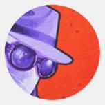 """""""den osynliga manen """", rund klistermärke"""