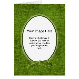 Den ovala fotomallen - grön Chenille - förbigå Hälsningskort