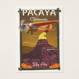 Den Pacaya vulkan Guatemala reser affischen Visitkort