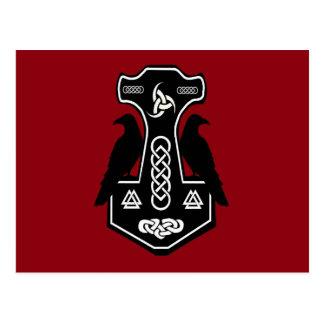 Den Pagan Celtic thor'sen bultar med Ravens Vykort