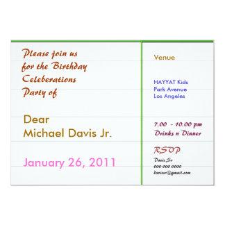 Den pärlemorfärg vitgröntgränsen med tar prov text 12,7 x 17,8 cm inbjudningskort