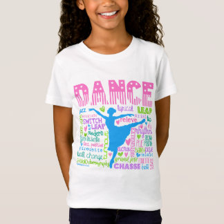 Den pastellfärgade dansare uttrycker typografi tee shirts