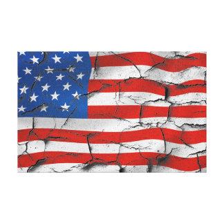 Den patriotiska amerikanska flaggan knäckte USA Canvastryck
