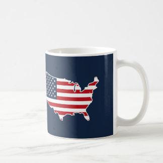 Den patriotiska amerikanska flaggan United States Kaffemugg