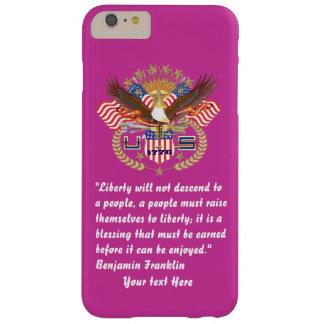 Den patriotiska fredskogen steg djupt barely there iPhone 6 plus skal
