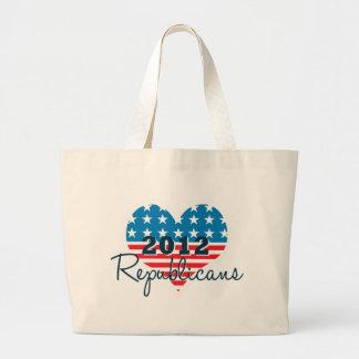 Den patriotiska totot för republikaner 2012 hänger jumbo tygkasse