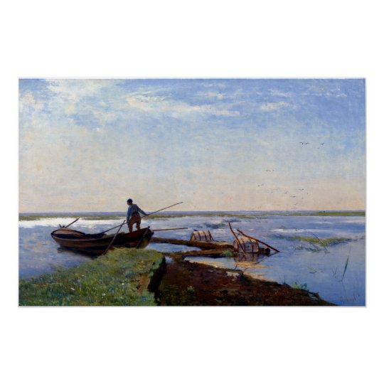 Den Paul Gabriël polderen landskap Poster