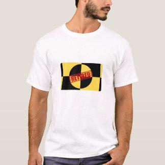Den pensionerade kraschen testar attrapp t-shirt