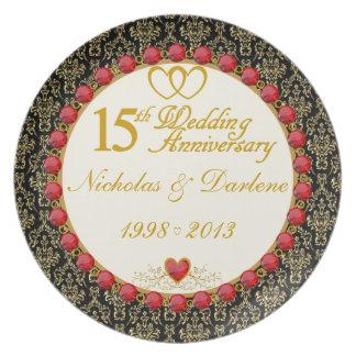 Den PERSONIFIERADE (NAMES/DATES) 15th årsdagen plä Tallrik