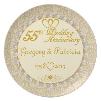 Den PERSONIFIERADE (NAMES/DATES) 55th årsdagen plä Tallrik