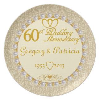 Den PERSONIFIERADE (NAMES/DATES) 60th årsdagen plä Tallrik