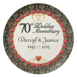 Den PERSONIFIERADE (NAMES/DATES) 70th årsdagen plä Tallrik